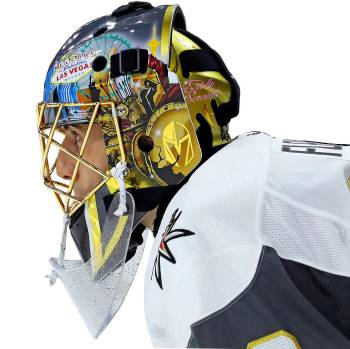 In this Jan. 21, 2018, file photo,Vegas Golden Knights goaltender Marc-Andre Fleury (29) watc ...