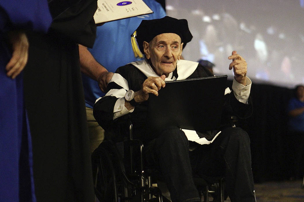 Holocaust survivor Martin Ackerman receives an honorary doctorate of humane letters from Touro ...