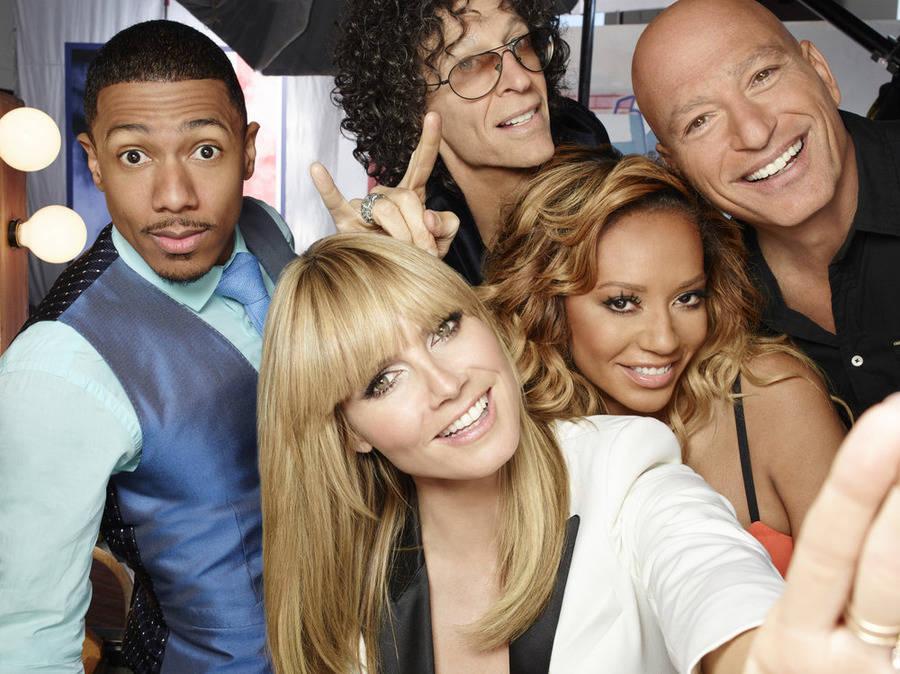 "From left, Nick Canon, Heidi Klum, Howard Stern, Mel B and Howie Mandel star in ""America's Got ..."