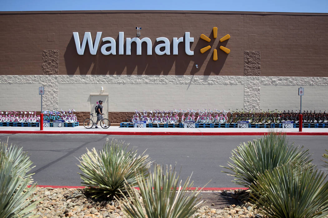 Walmart at 2310 E. Serene Ave. in Las Vegas Tuesday, March 14, 2019. K.M. Cannon Las Vegas Revi ...