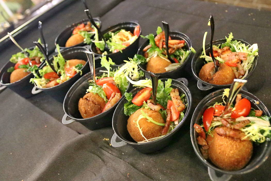 Escargot croquettes from Partage were among the dishes served at Vegas Unstripped.(Hew Burney)