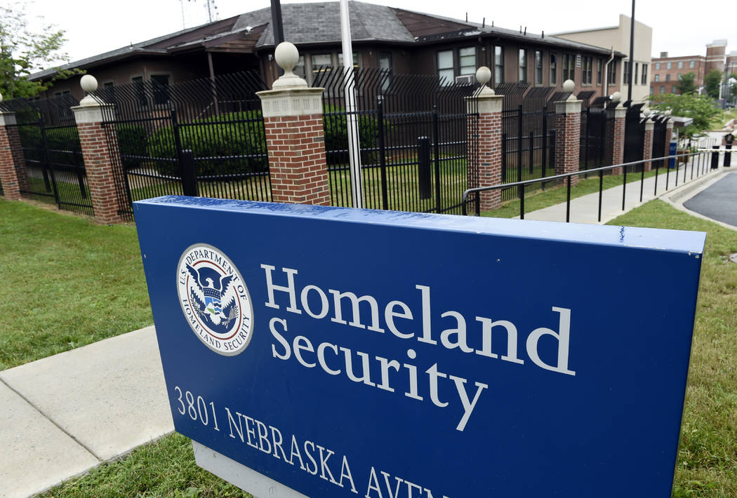 A June 5, 2015, file photo, shows the Homeland Security Department headquarters in northwest Wa ...