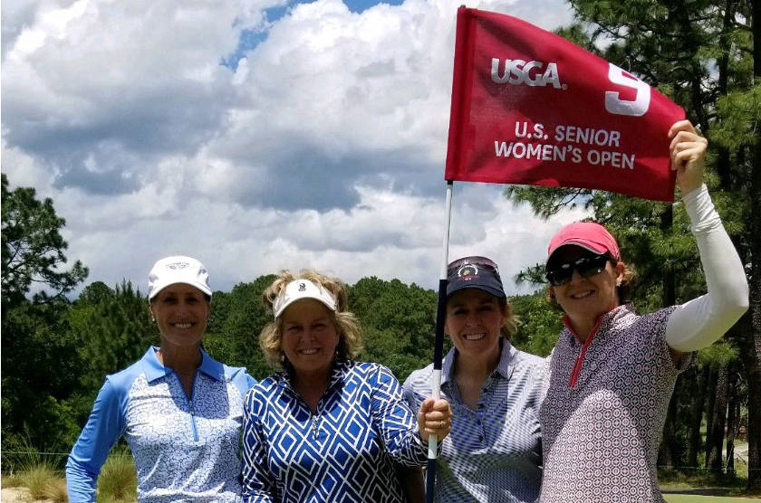 Local amateur Ronda Henderson (for right) is playing in this week's U.S. Senior Women's Open an ...