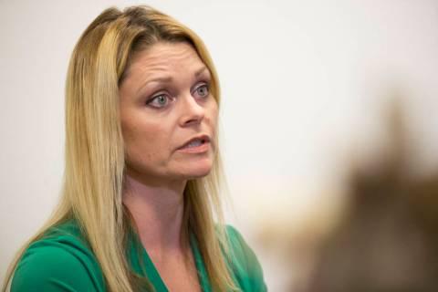 National certified school psychologist Katie Dockweiler is interviewed by the Las Vegas Review- ...