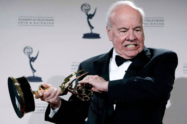 Actor Tim Conway poses Sept. 13, 2008, with his award for Outstanding Guest Actor in a Comedy S ...