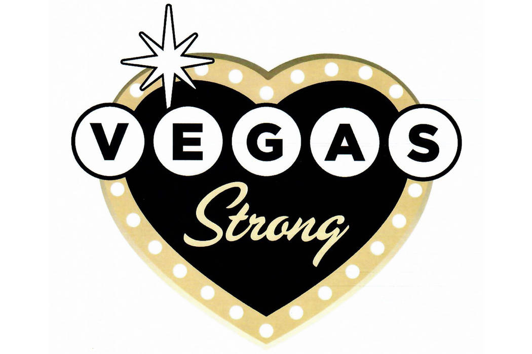 "The emblem for the 1 October ""Vegas Strong"" license plate. The Senate unanimously approved crea ..."