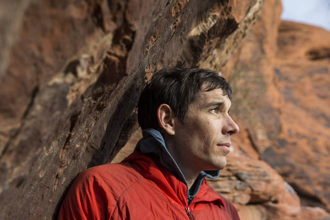 Alex Honnold at The Gallery at Red Rock Canyon on Monday, Dec. 17, 2018, in Las Vegas. Honnold, ...
