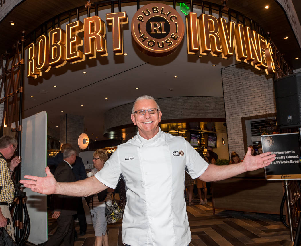 Robert Irvine is shown at the opening of Robert Irvine Public House at the Tropicana on Thursda ...