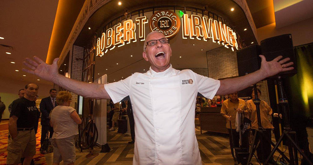 On July 27, Food Network star chef Robert Irvine opened his first Las Vegas restaurant, the Pub ...