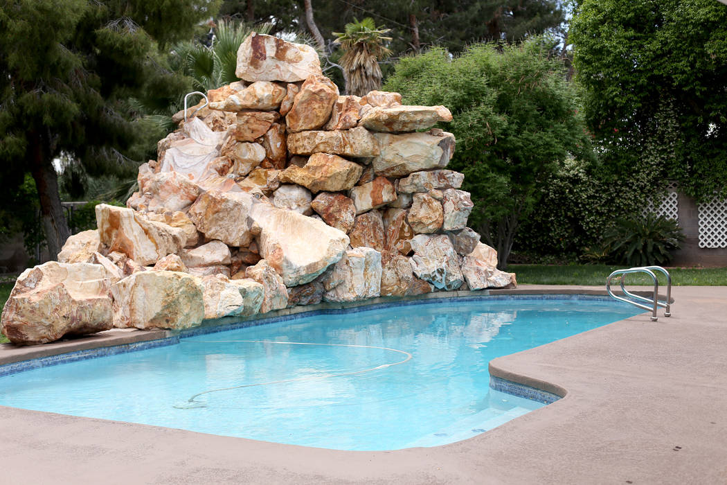 The pool at the former house of Jerry Lewis in Las Vegas, Wednesday, May 15, 2019. Jane Popple ...