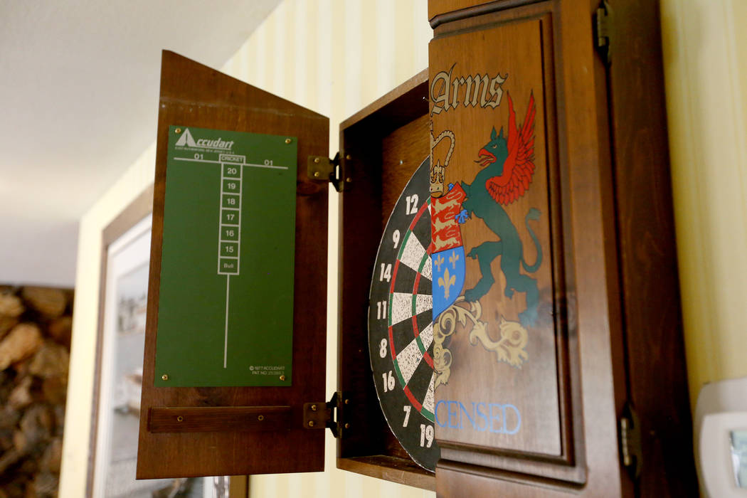 A dart board owned by Jerry Lewis at his former home in Las Vegas, Wednesday, May 15, 2019. Jan ...