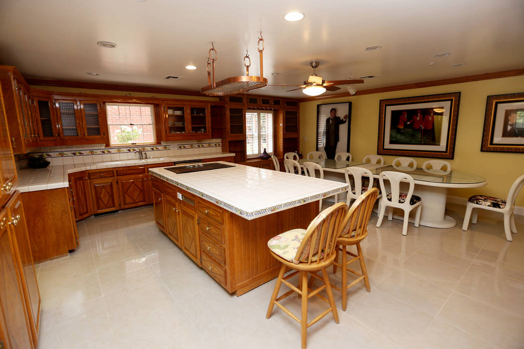 The kitchen at the former house of Jerry Lewis in Las Vegas, Wednesday, May 15, 2019. Jane Popp ...