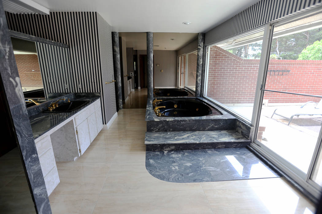 The master bathroom at the former house of Jerry Lewis in Las Vegas, Wednesday, May 15, 2019. J ...