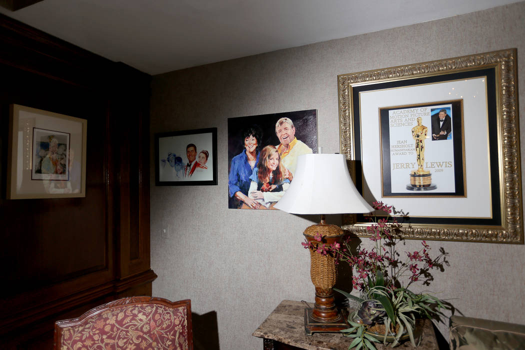 Original pictures at the former home of Jerry Lewis in Las Vegas, Wednesday, May 15, 2019. Jane ...