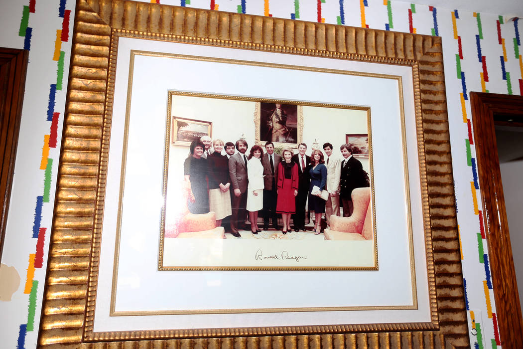 An original picture at the former home of Jerry Lewis in Las Vegas, Wednesday, May 15, 2019. Ja ...