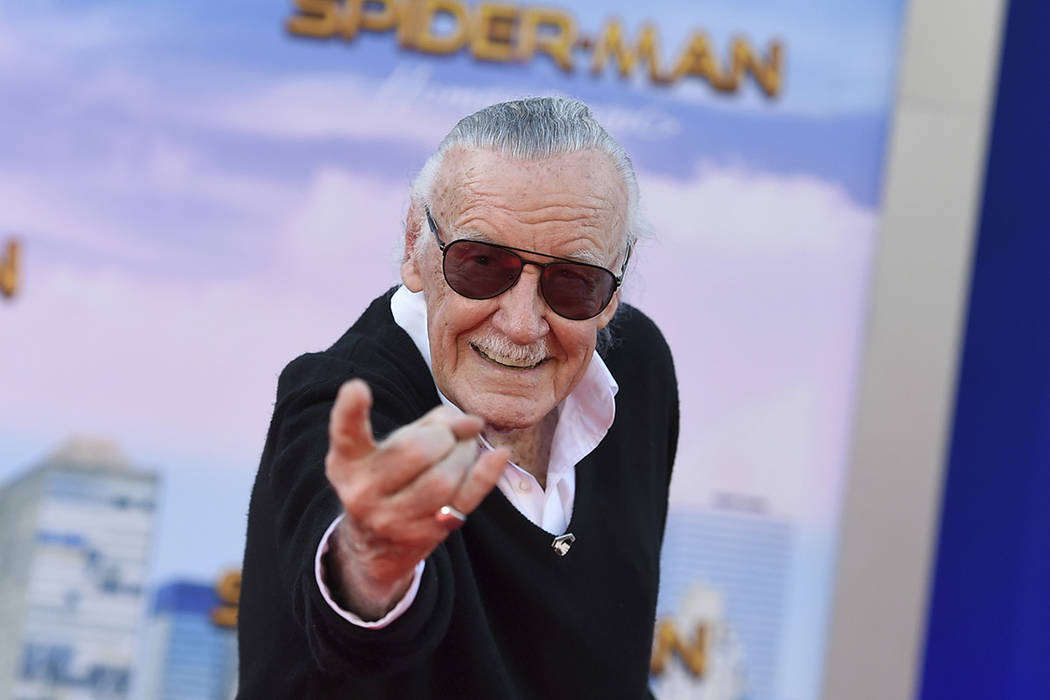 """FILE - In this June 28, 2017 file photo, Stan Lee arrives at the Los Angeles premiere of """" ..."""
