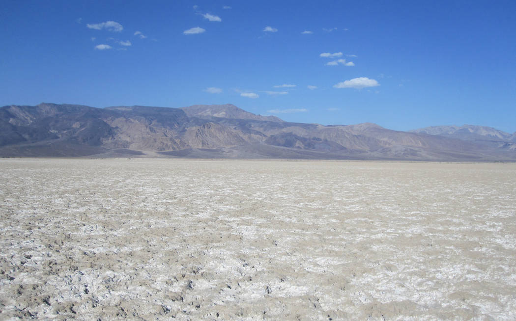 An undated photo shows once-private land in Saline Valley that was recently added to Death Val ...