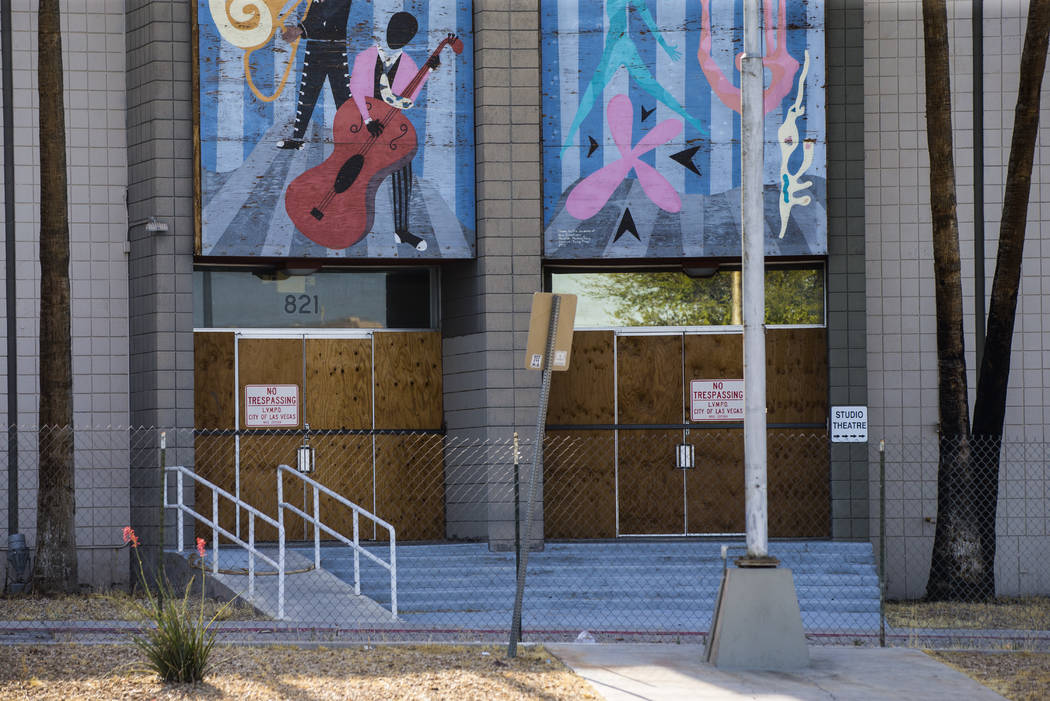 A view of the Reed Whipple Cultural Center along Las Vegas Boulevard North in Las Vegas on Tues ...