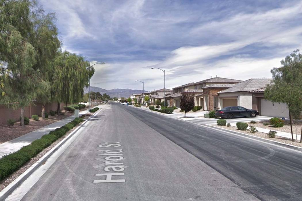 The 4900 block of Harold Street in North Las Vegas. (Google)