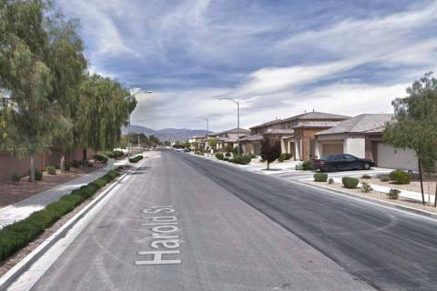 The 4900 block of Harold Street in North Las Vegas. (Google)