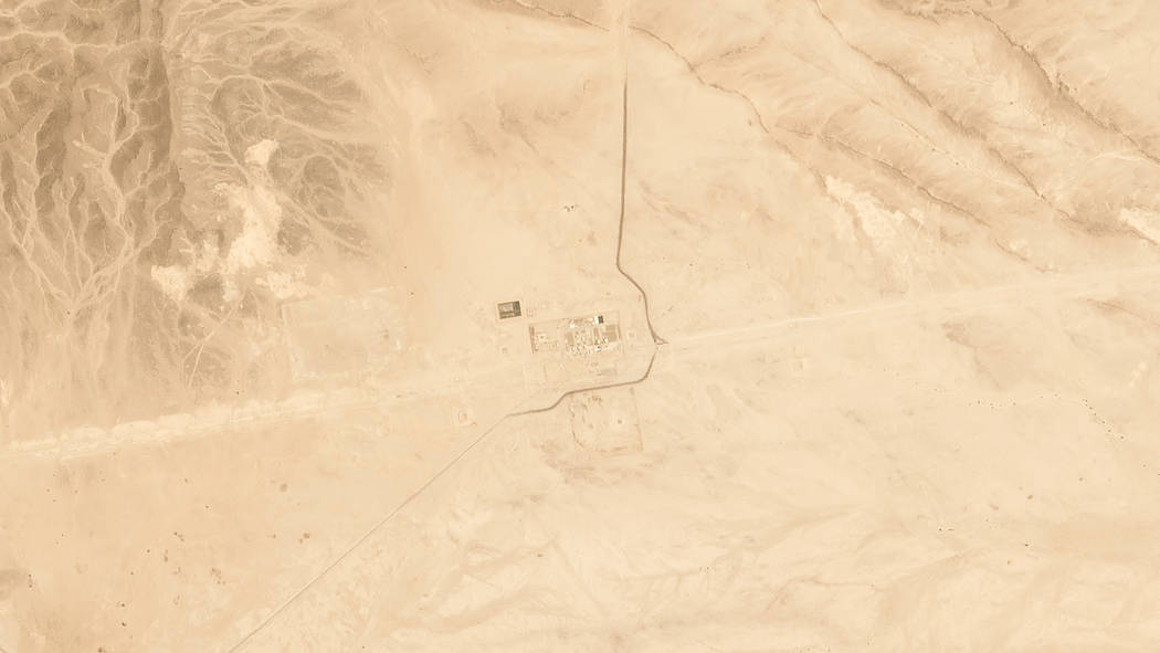 This satellite image provided by Planet Labs Inc. shows Saudi Aramco's Pumping Station No. 8 ne ...