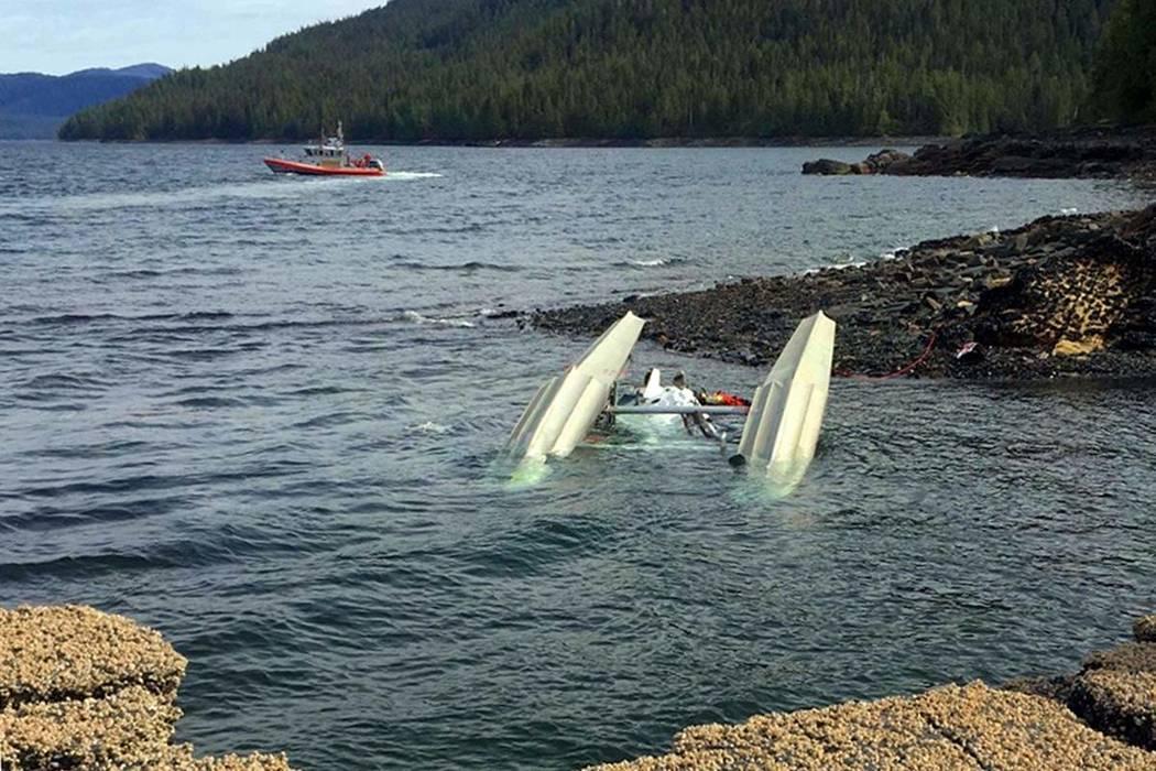 This May 13, 2019 photo provided by Ryan Sinkey, shows a Coast Guard Station Ketchikan response ...