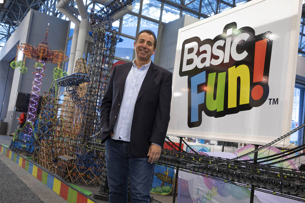In this Feb. 16, 2019, photo, Jay Foreman, CEO of Basic Fun!, poses for a photo at Toy Fair New ...