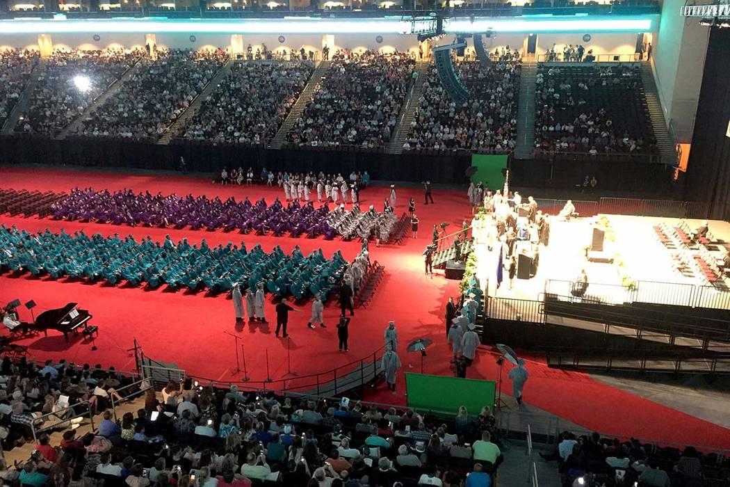 Graduation season begins this week for Clark County School District. (Meghin Delaney/Las Vegas ...