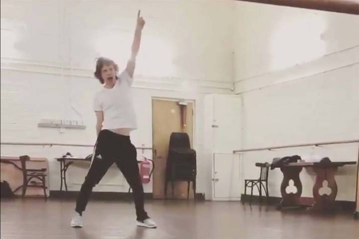 Mick Jagger tweeted a video of himself dancing around a studio on Wednesday, May 15, 2019. (@Mi ...
