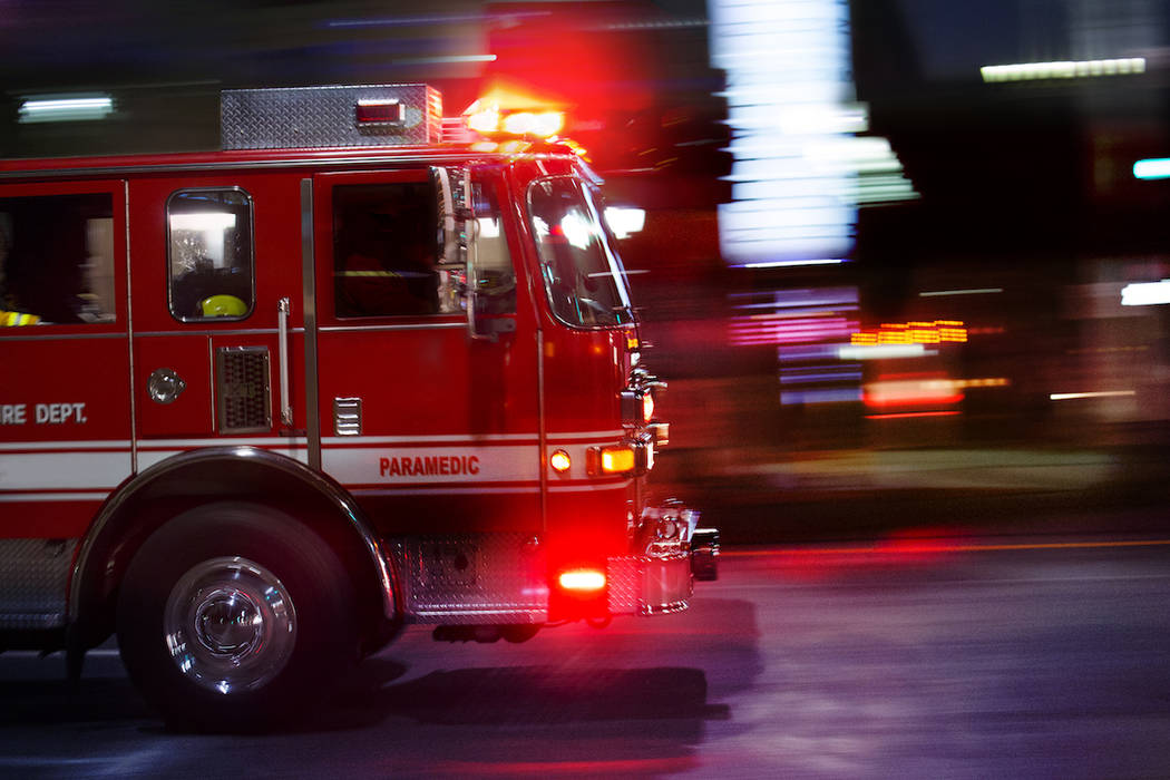 A fire engine races to the scene of an emergency. (Getty Images)