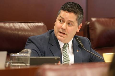 Assemblyman Steve Yeager, D-Las Vegas, presides during a Judiciary Committee meeting in the Leg ...