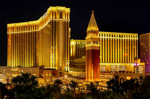 The Venetian on the Las Vegas Strip. (L.E. Baskow/Las Vegas Review-Journal) @Left_Eye_Images