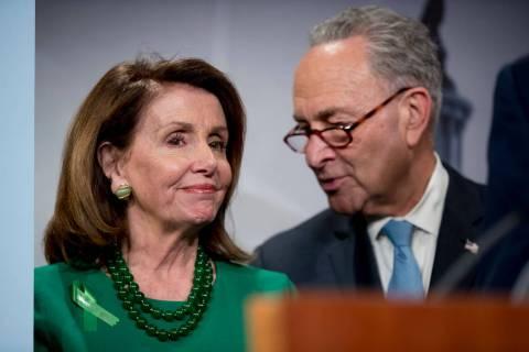 Nancy Pelosi and Chuck Schumer (AP).