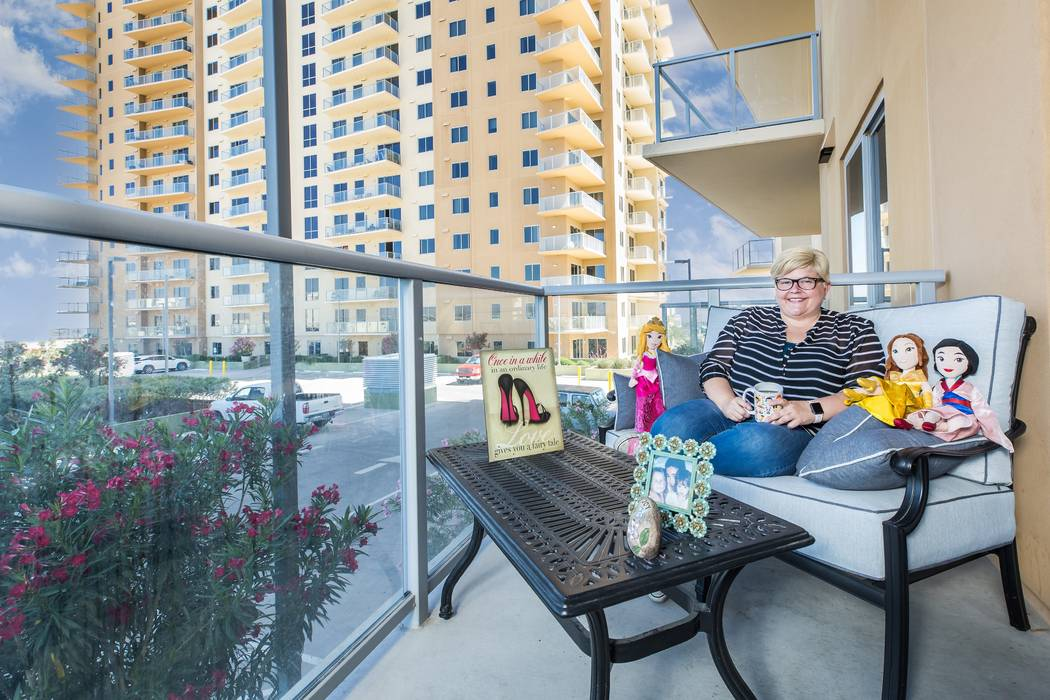 Callye Tsapatoris purchased a two-bedroom residence at One Las Vegas last year and now enjoys a ...
