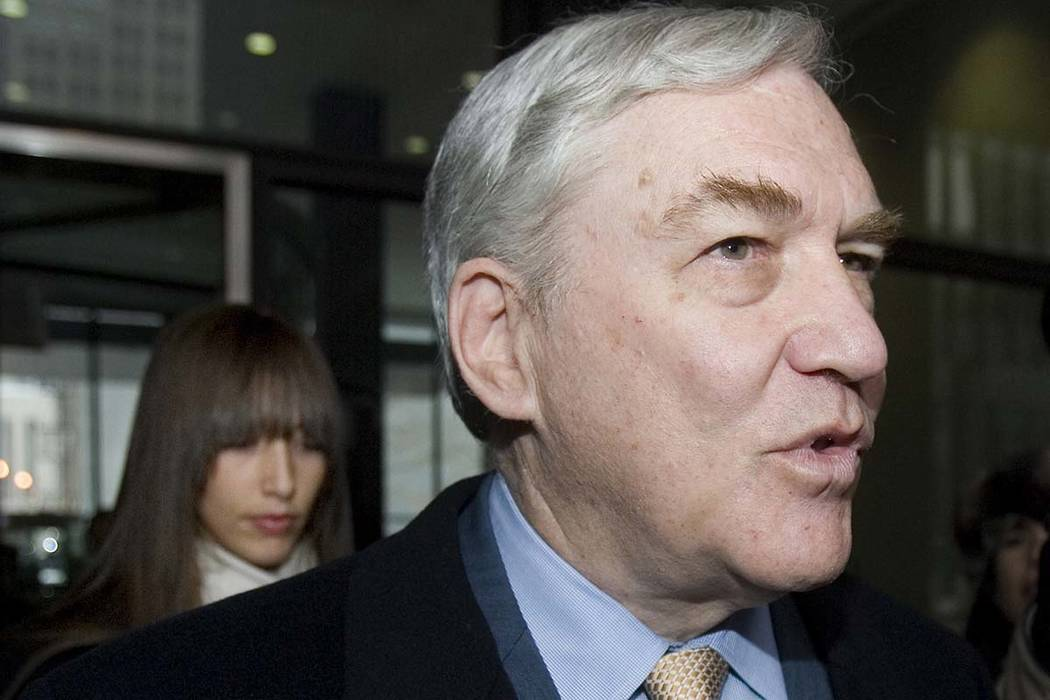 Conrad Black, who was found guilty of obstruction of justice and other charges, leaves with his ...