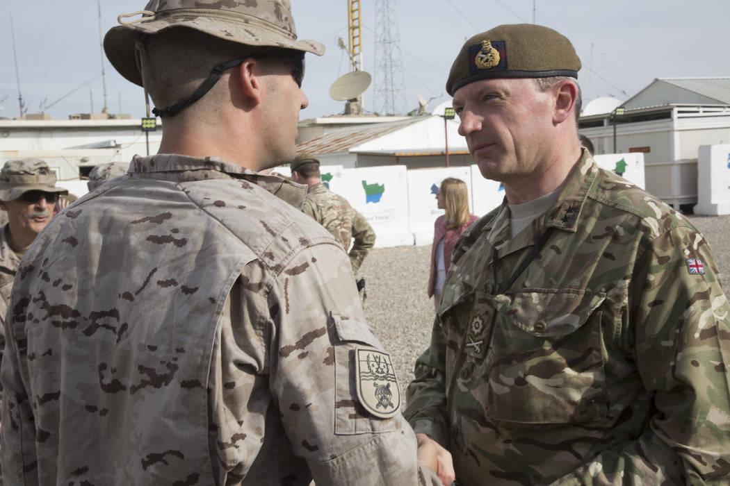 In this Nov. 22, 2018, photo, British army Maj. Gen. Christopher Ghika, deputy commander for St ...