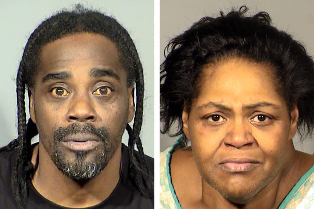Samuel Moore (left) and Yolanda Washington (Las Vegas Metropolitan Police Department)