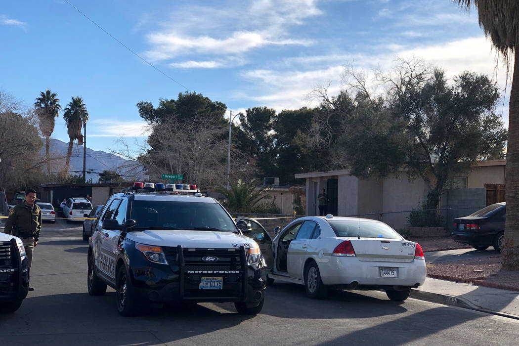 Las Vegas homicide detectives are investigating after a man was found shot to death Friday morn ...