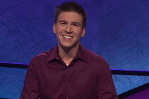 "Las Vegan James Holzhauer, appearing on ""Jeopardy!"" on Tuesday, April 17, 2019. (Jeopardy F ..."