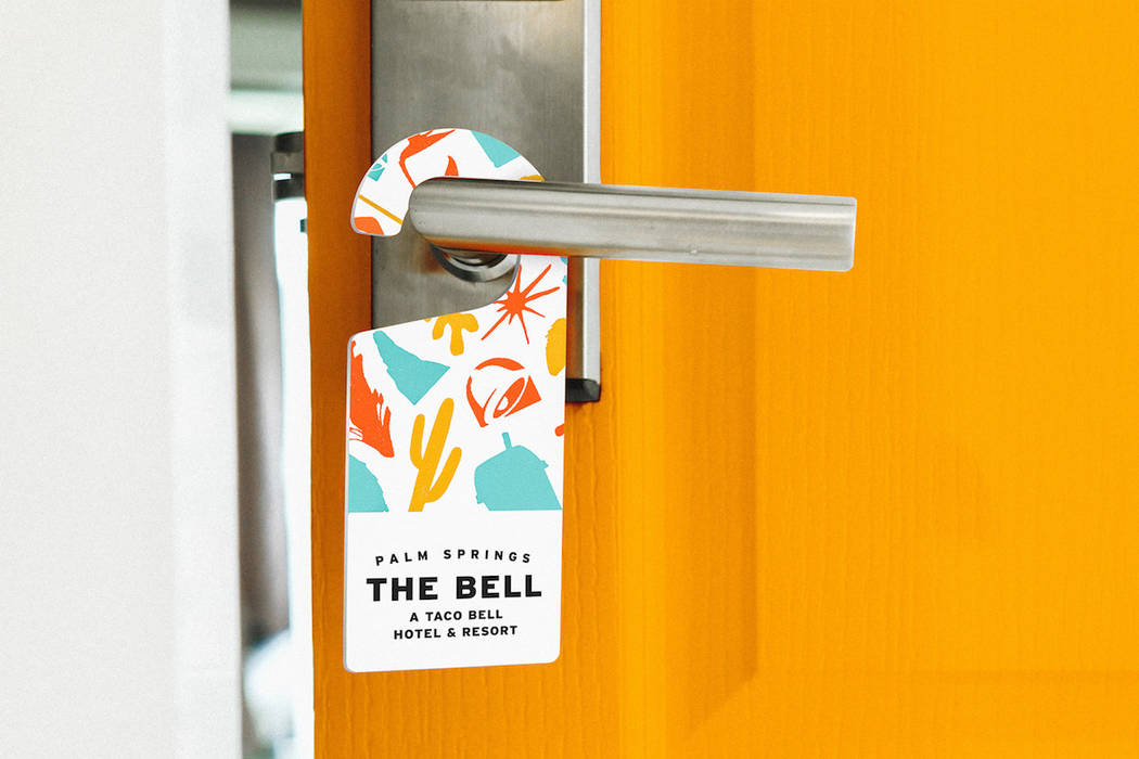 Everything from guest rooms to breakfast and poolside cocktails will be infused with a Taco Bel ...