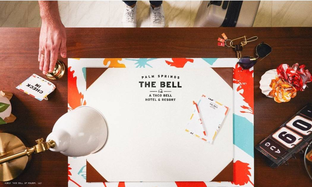 From check-in to check-out, The Bell: A Taco Bell Hotel and Resort re-imagines what a hotel sta ...