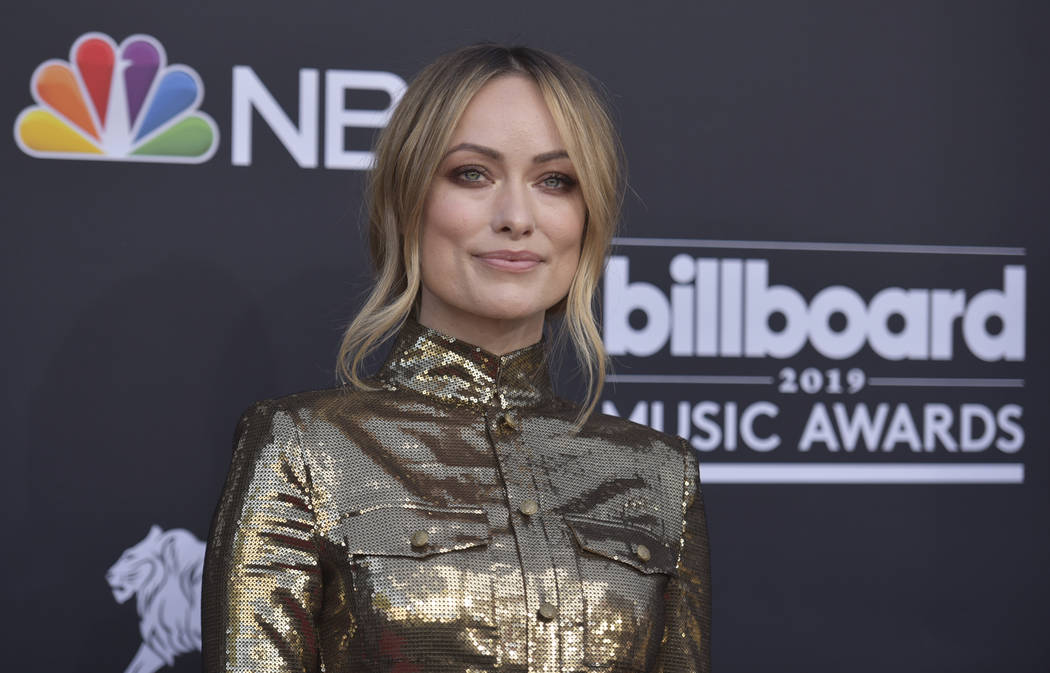 Olivia Wilde arrives at the Billboard Music Awards on May 1, 2019, at the MGM Grand Garden Aren ...