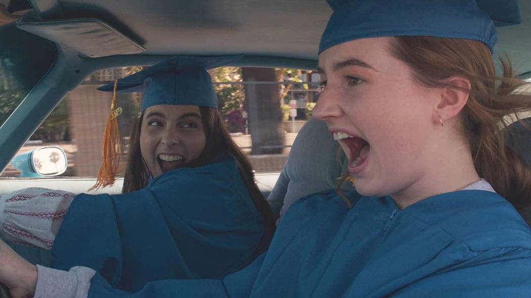 Beanie Feldstein stars as Molly and Kaitlyn Dever as Amy in Olivia Wilde's directorial d ...
