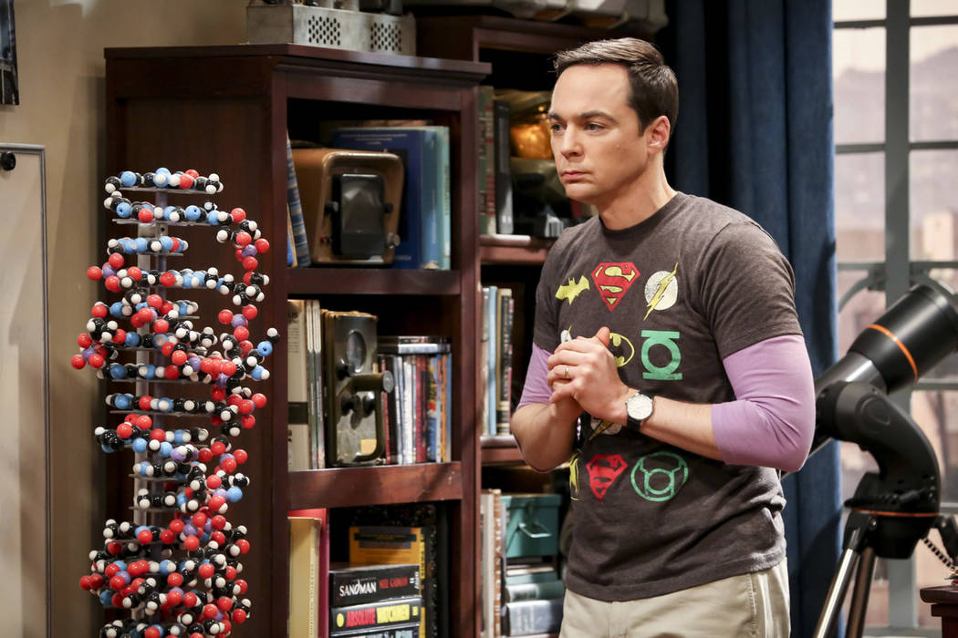 """Jim Parsons performs in a scene from the series finale of """"The Big Bang Theory."""" (Michael Yaris ..."""