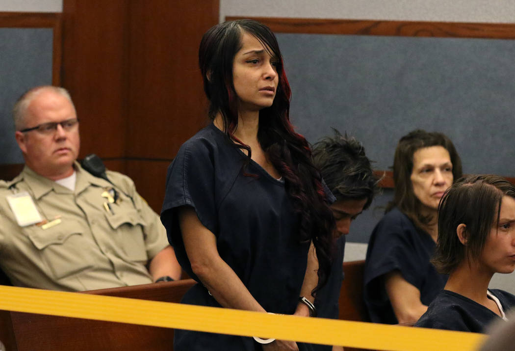 Gigi Mitchell, accused of trafficking an 11-year-old girl, appears in court at the Regional Jus ...