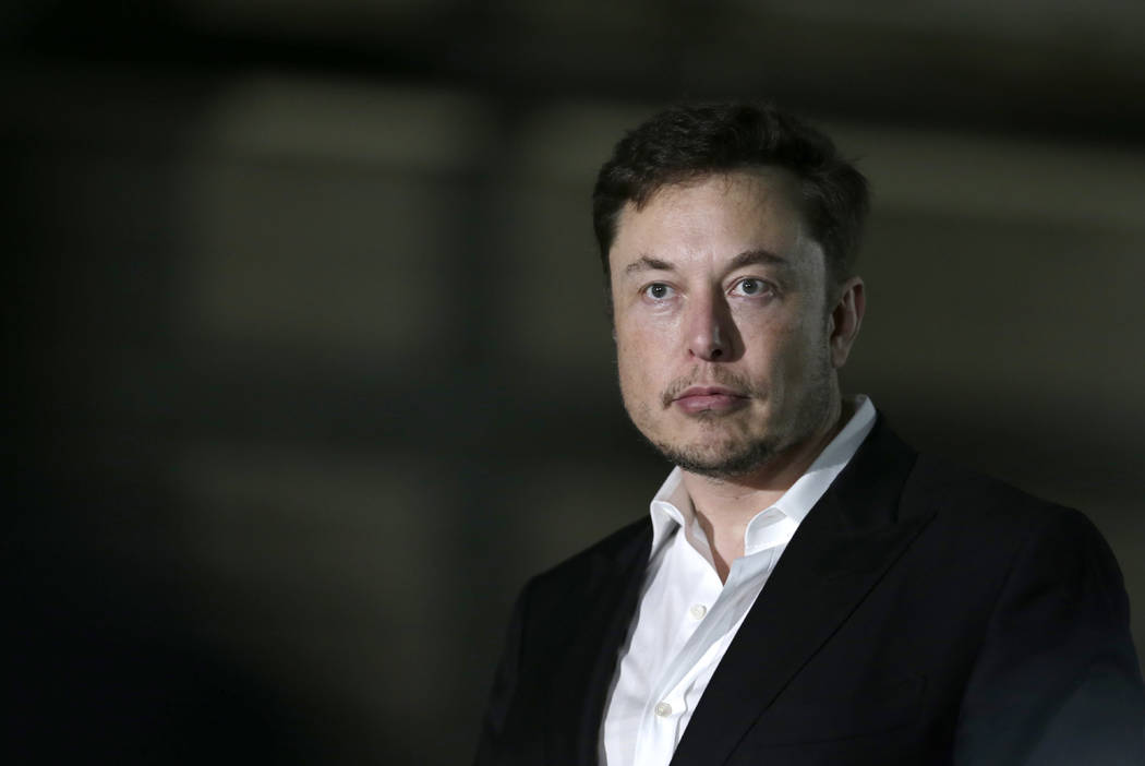 FILE- In this June 24, 2018, file photo Tesla CEO and founder of the Boring Company Elon Musk s ...
