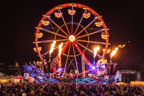 Attendees at the Electric Daisy Carnival Las Vegas, expected to be close to 150,000 at the Las ...