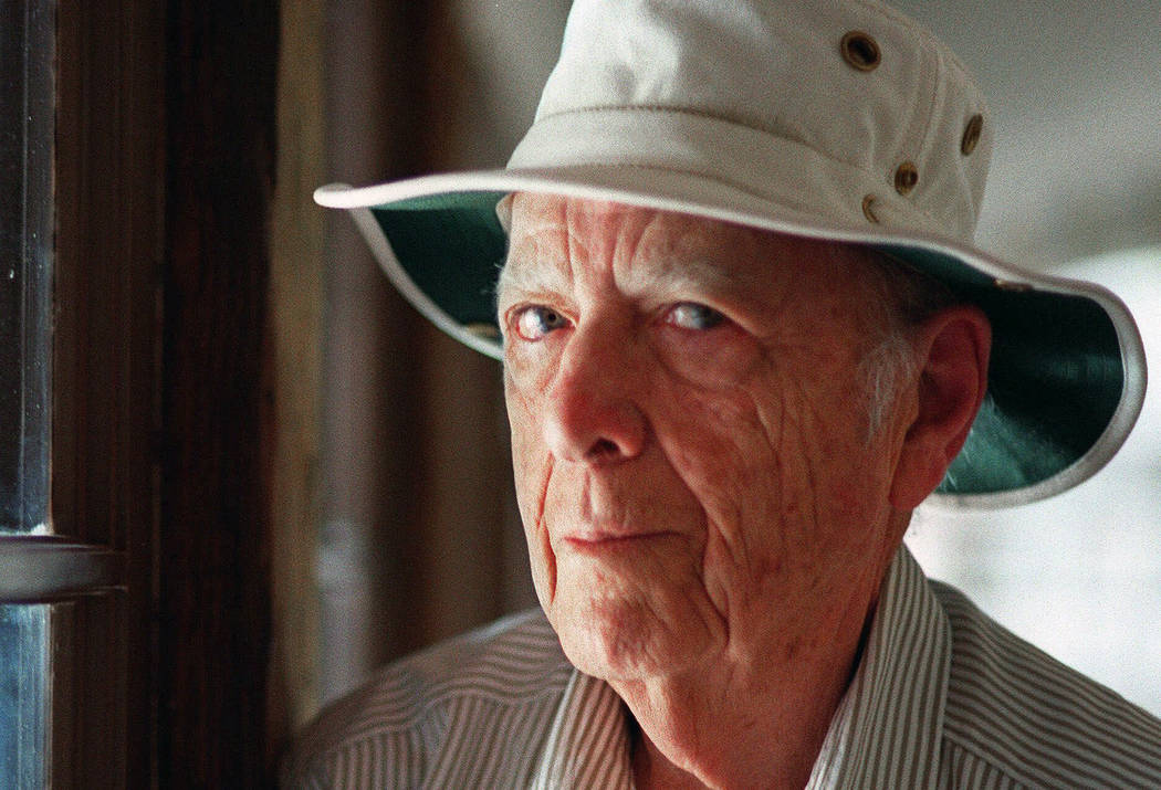 A May 15, 2000, file photo shows Pulitzer Prize-winning author Herman Wouk in Palm Springs, Cal ...
