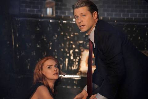 "GOTHAM: L-R: Erin Richards and Ben Mckenzie in the ""The Beginning..."" series finale ..."