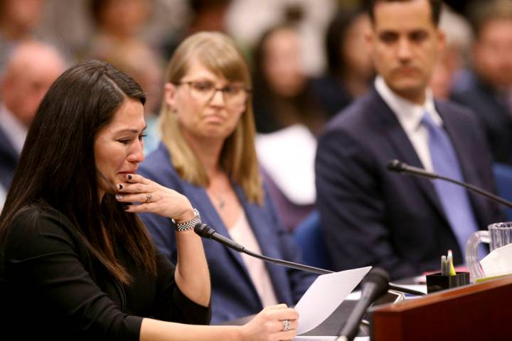 Assemblywoman Sandra Jauregui, D-Las Vegas, testifies to a joint meeting of the Assembly and Se ...